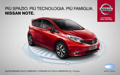 Nissan NOTE più spazio, più tecnologia, più sicurezza