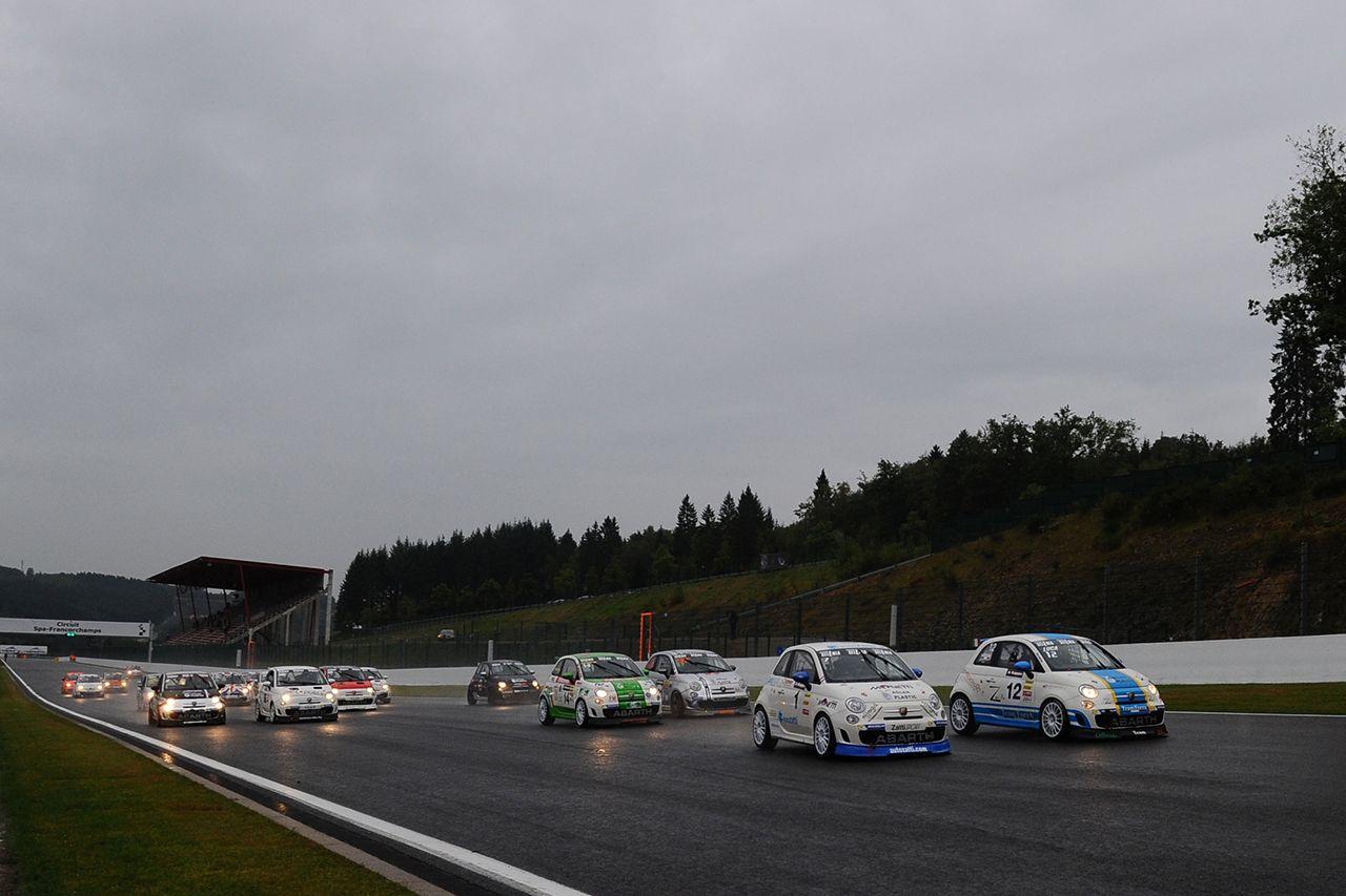 Trofei Abarth in azione a Spa-Francorchamps