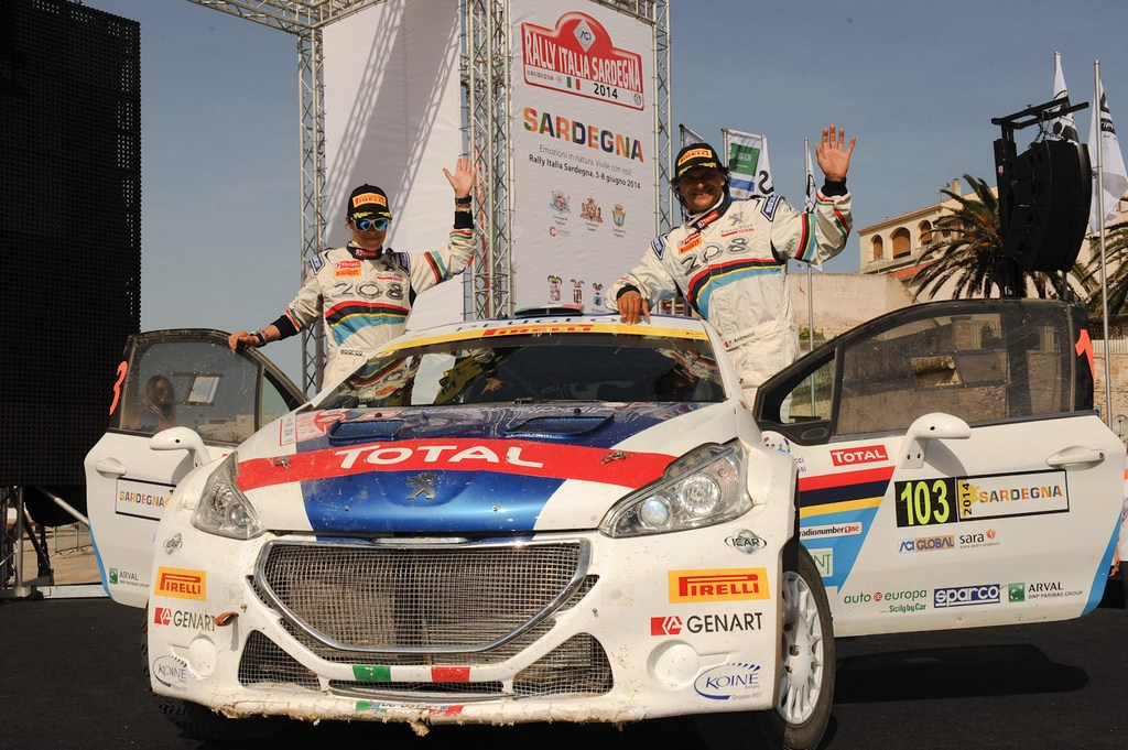Sardegna: 3° gradino del podio per Peugeot
