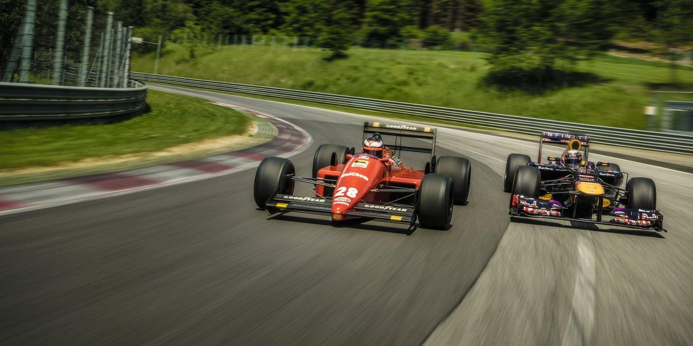Vettel-Berger scambio di sedili al Red Bull Ring