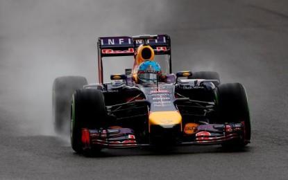 GB: terza sessione con pioggia e Vettel