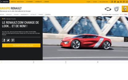Nuovo sito web per il Gruppo Renault