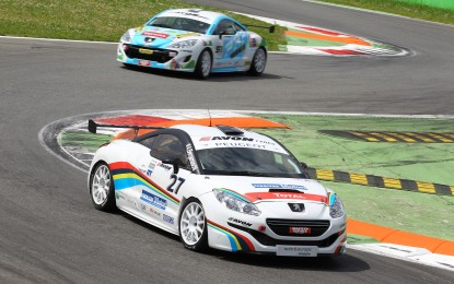 Peugeot RCZ al Mugello con Luca Filippi