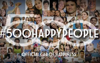 #500happypeople per i 7 anni di Fiat 500