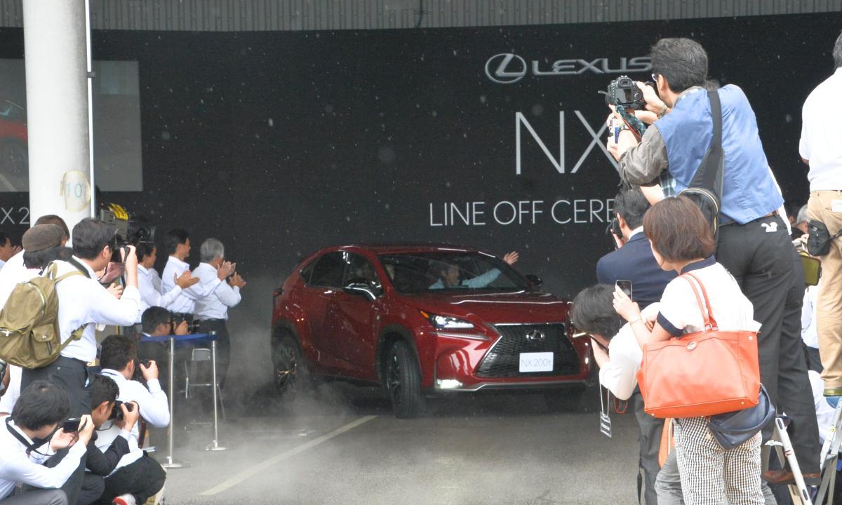 Lexus NX Hybrid: prime unità prodotte