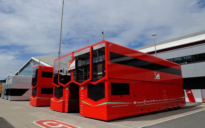 Logistica in F1: Pianeta Rosso in movimento