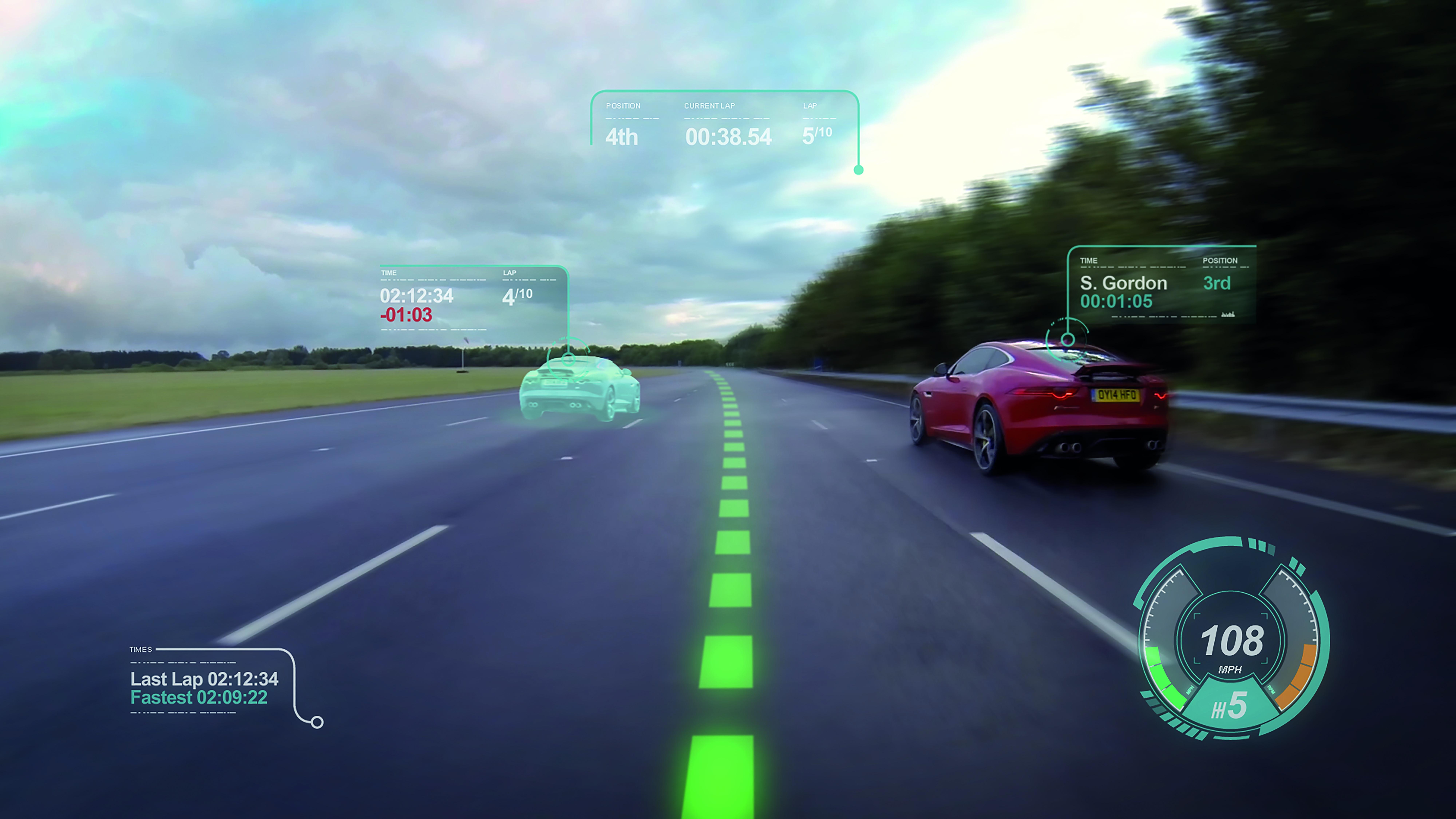 Jaguar Virtual Windscreen: no alle distrazioni