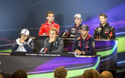 Belgio: la conferenza stampa dei piloti