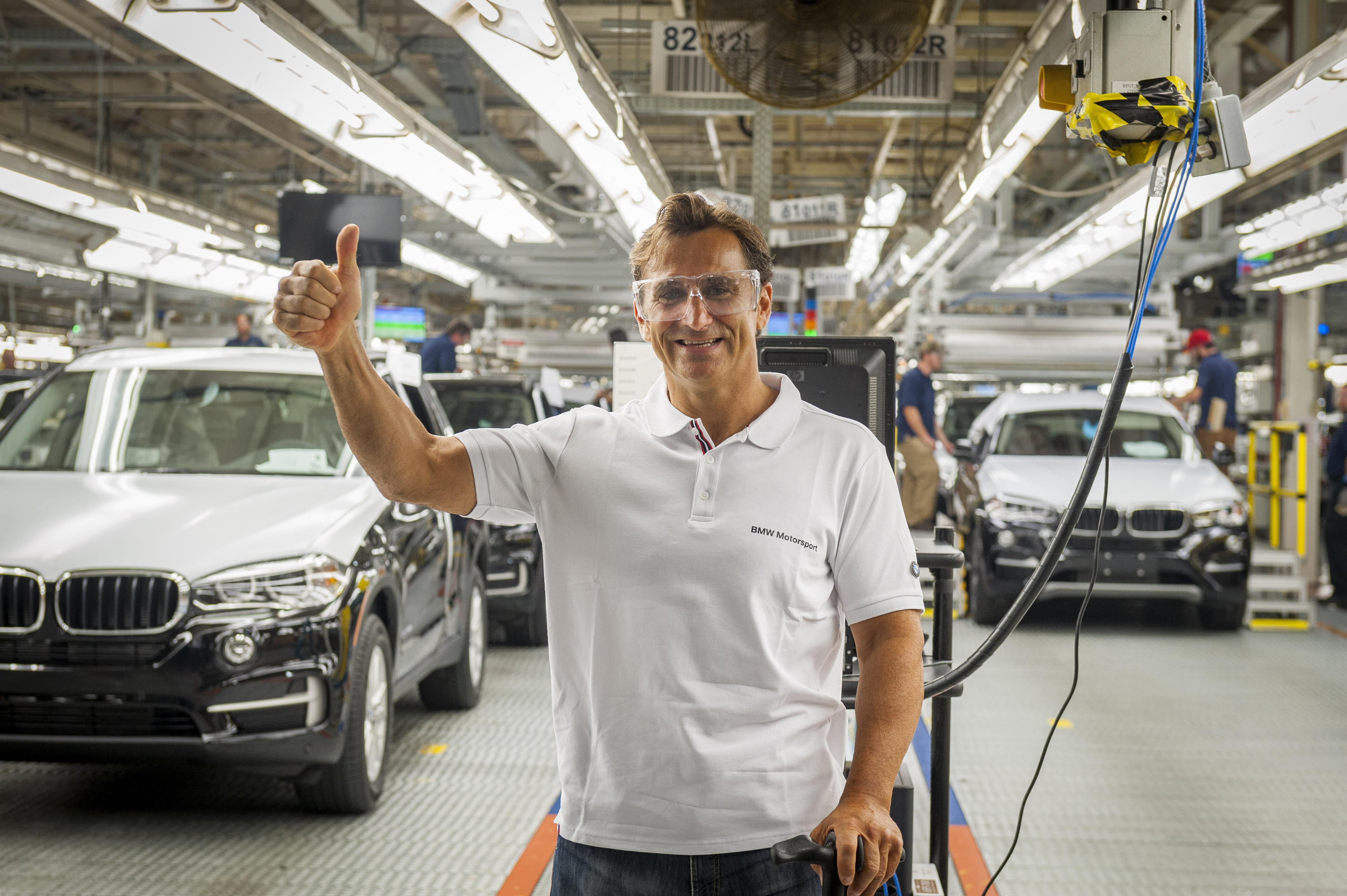 Alessandro Zanardi in visita alla fabbrica BMW di Spartanburg