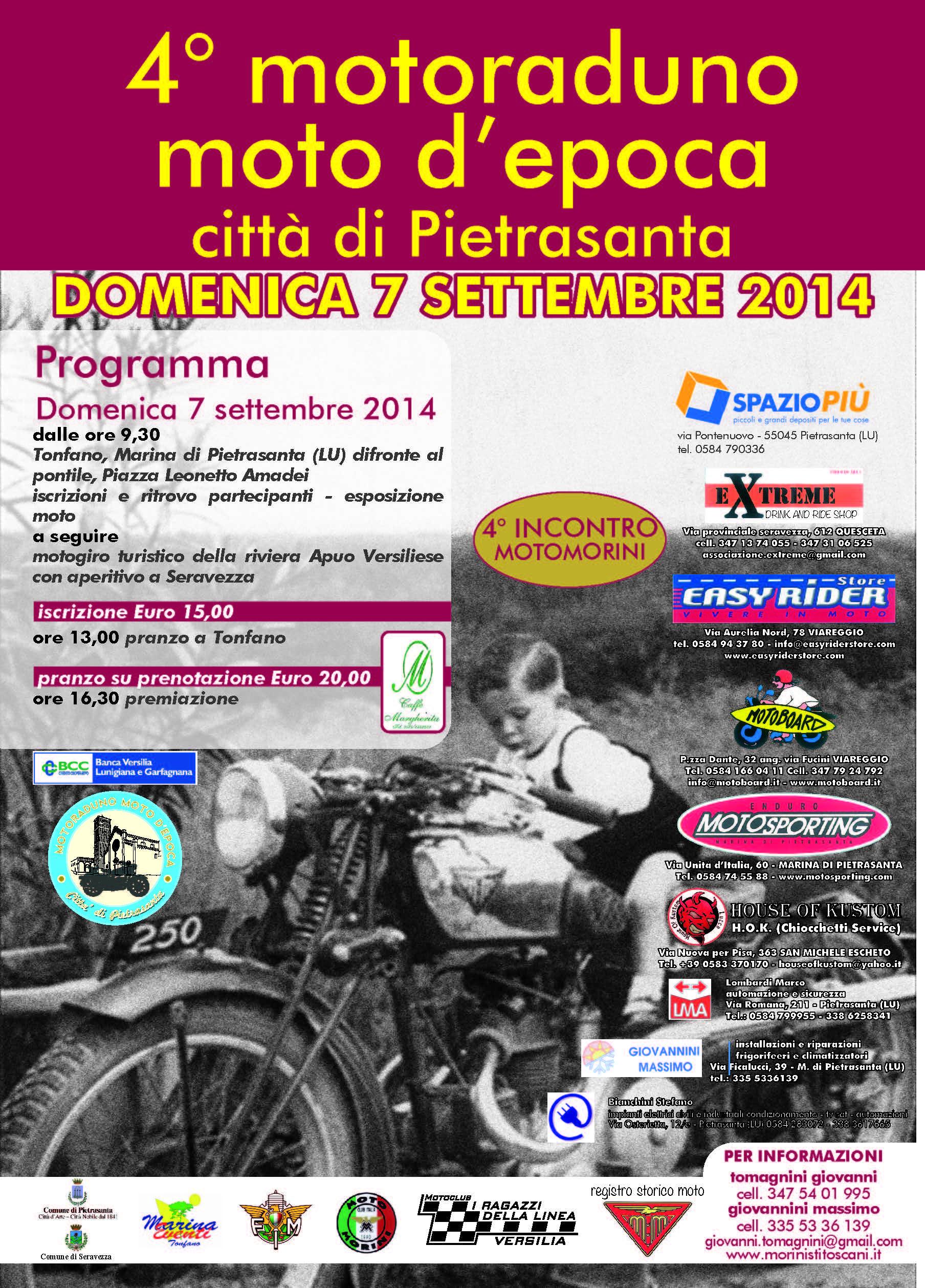 4° Motoraduno Moto d'Epoca Città di Pietrasanta