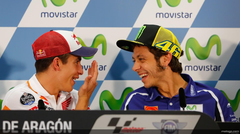 """""""Speciali"""" di buon compleanno per Rossi e Marquez"""