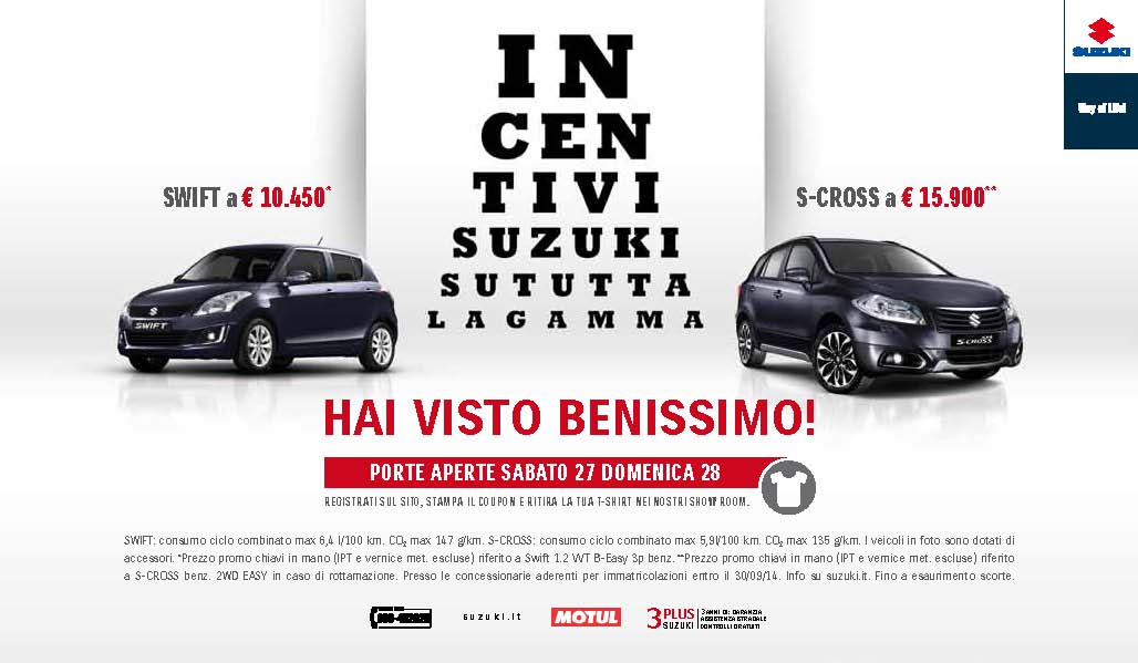 Suzuki: nel weekend Porte Aperte S-Cross