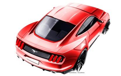 Ford svela i bozzetti della nuova Mustang