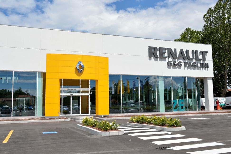 Paglini renault store restyling per i 50 anni for Concessionaria renault fratelli biagioni