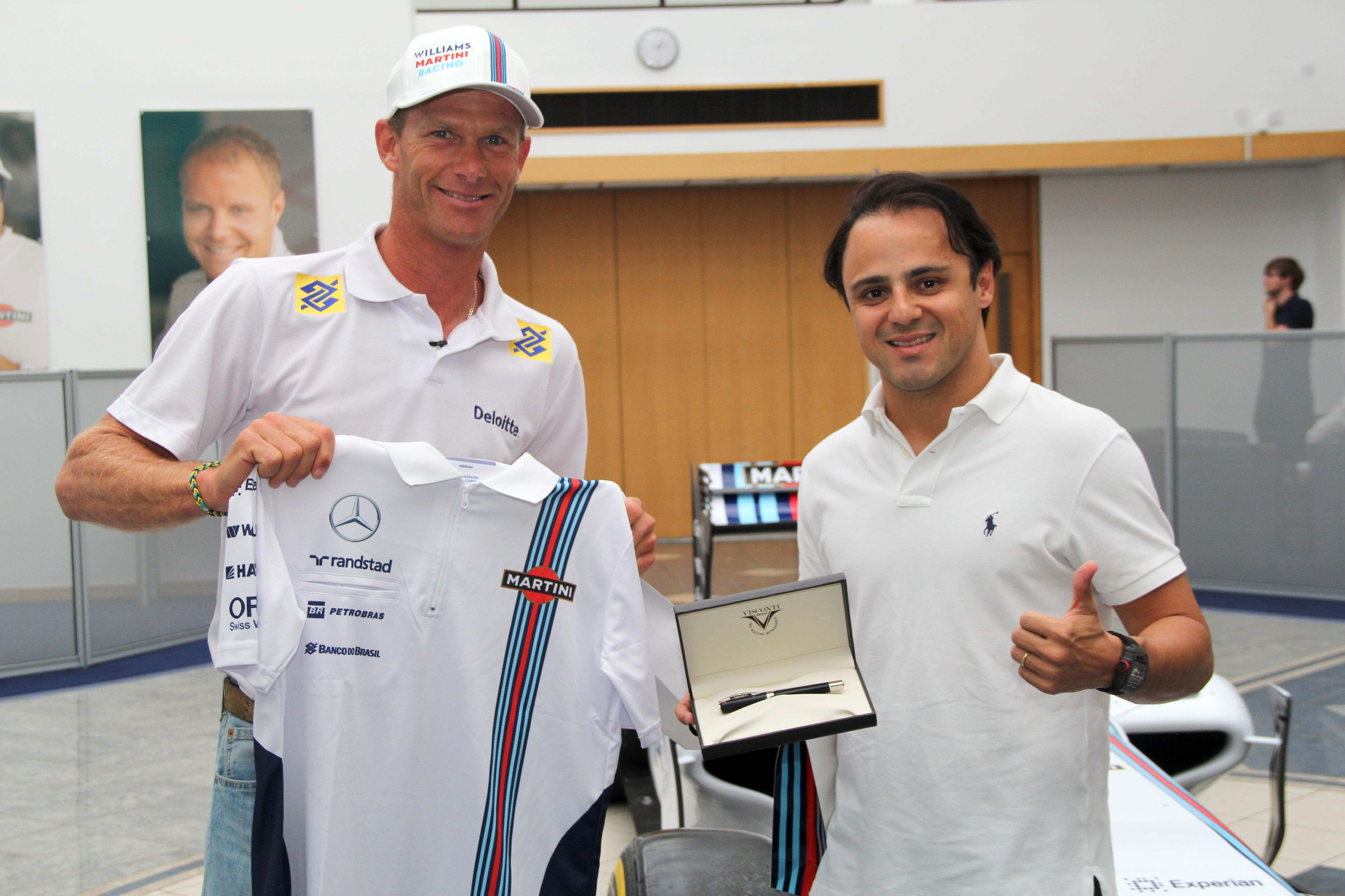 Robert Scheidt e Felipe Massa: incontro alla factory Williams