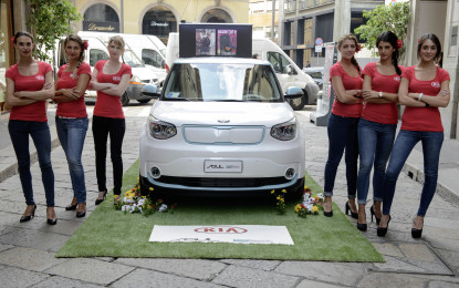 "Kia Soul ECO ""elettrizza"" la Fashion Week"