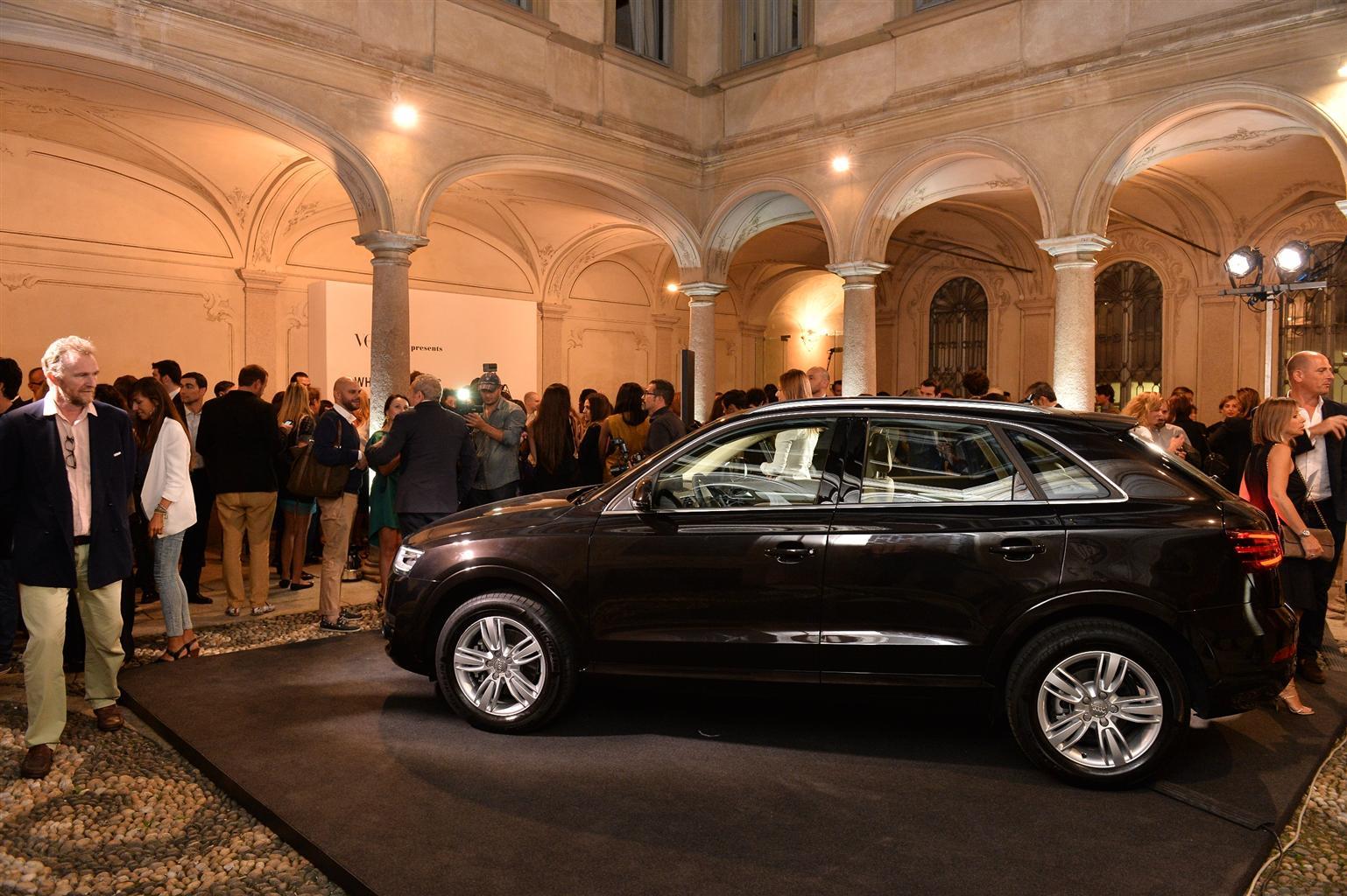 Audi Q3 Verve al centro della moda milanese