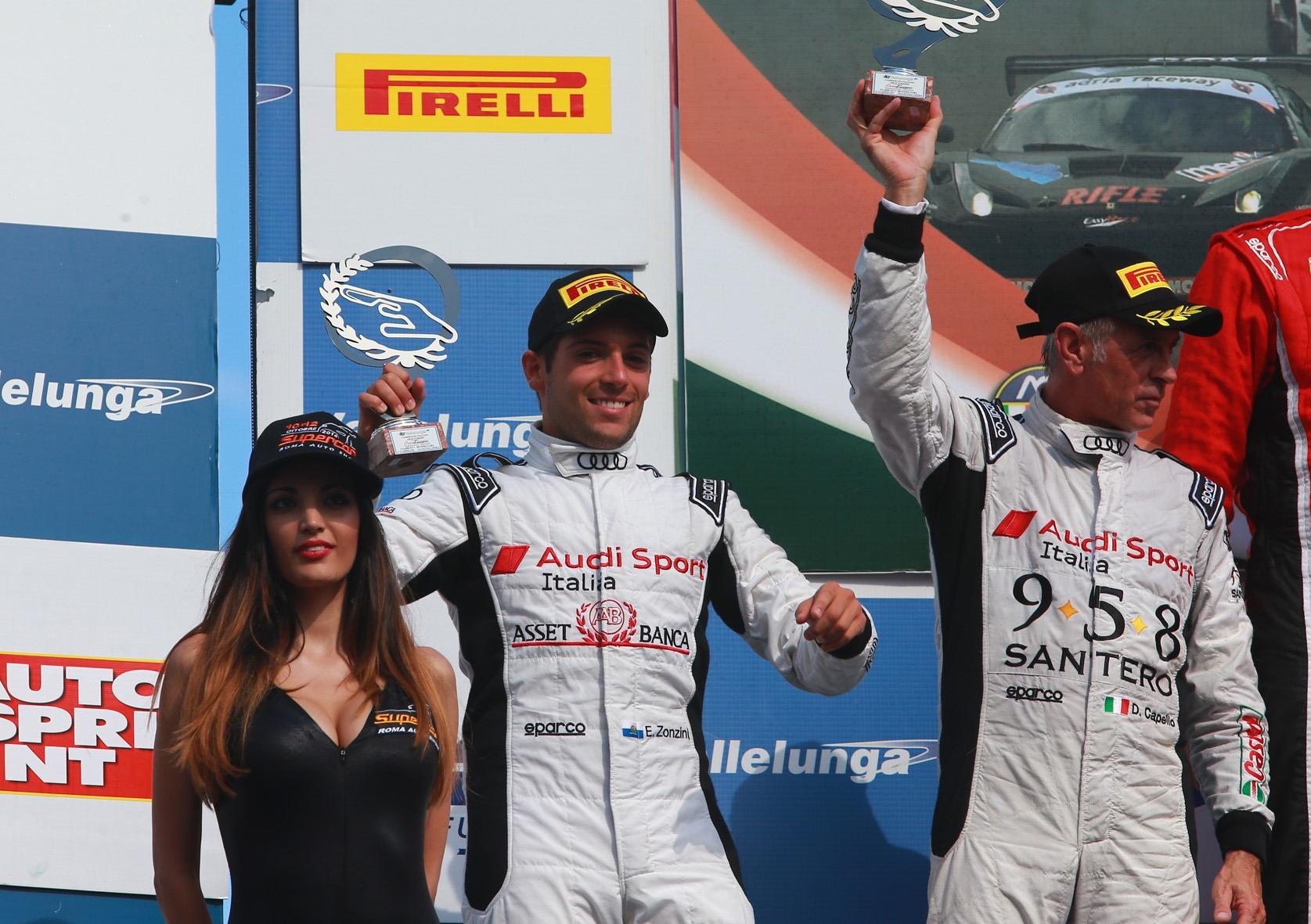 GT: a Vallelunga Zonzini e Capello tornano sul podio