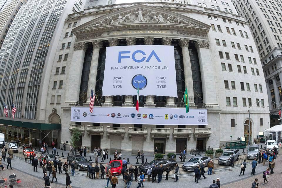 FCA: fusione completata e debutto al NYSE