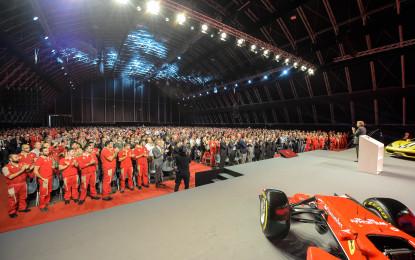 Montezemolo saluta i dipendenti Ferrari