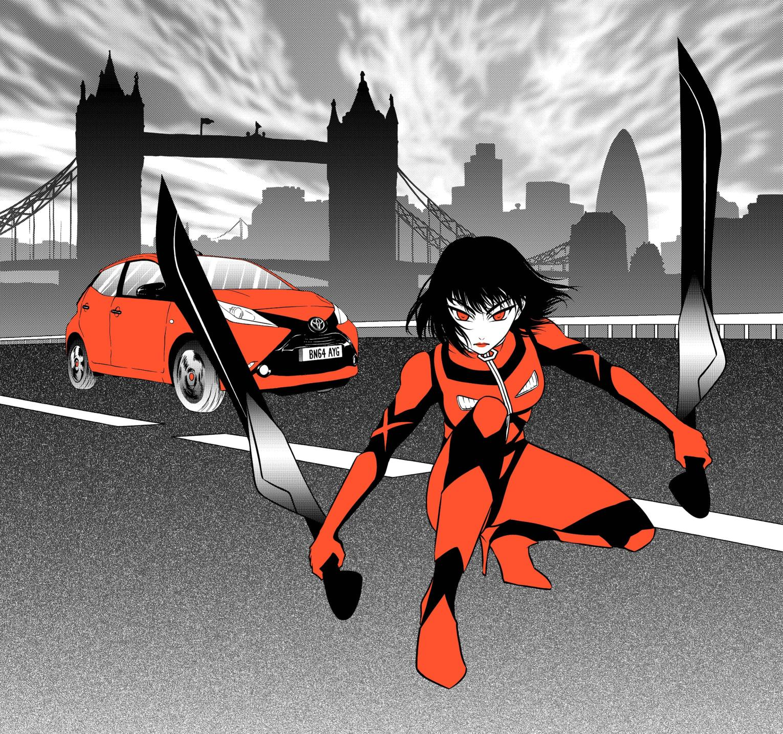 Toyota Aygo pronta a salvare Londra. In un Manga!