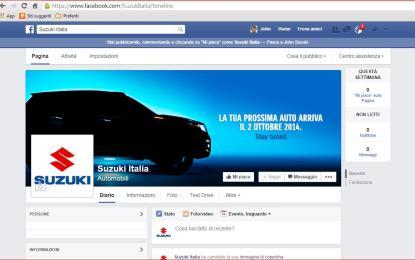 Suzuki Italia Automobili ora è su Facebook