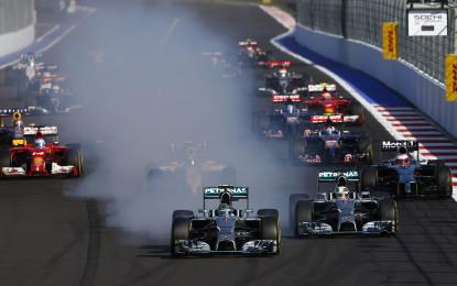 Russia: Lewis, Nico e Valtteri, tre stelle. E Mercedes campione
