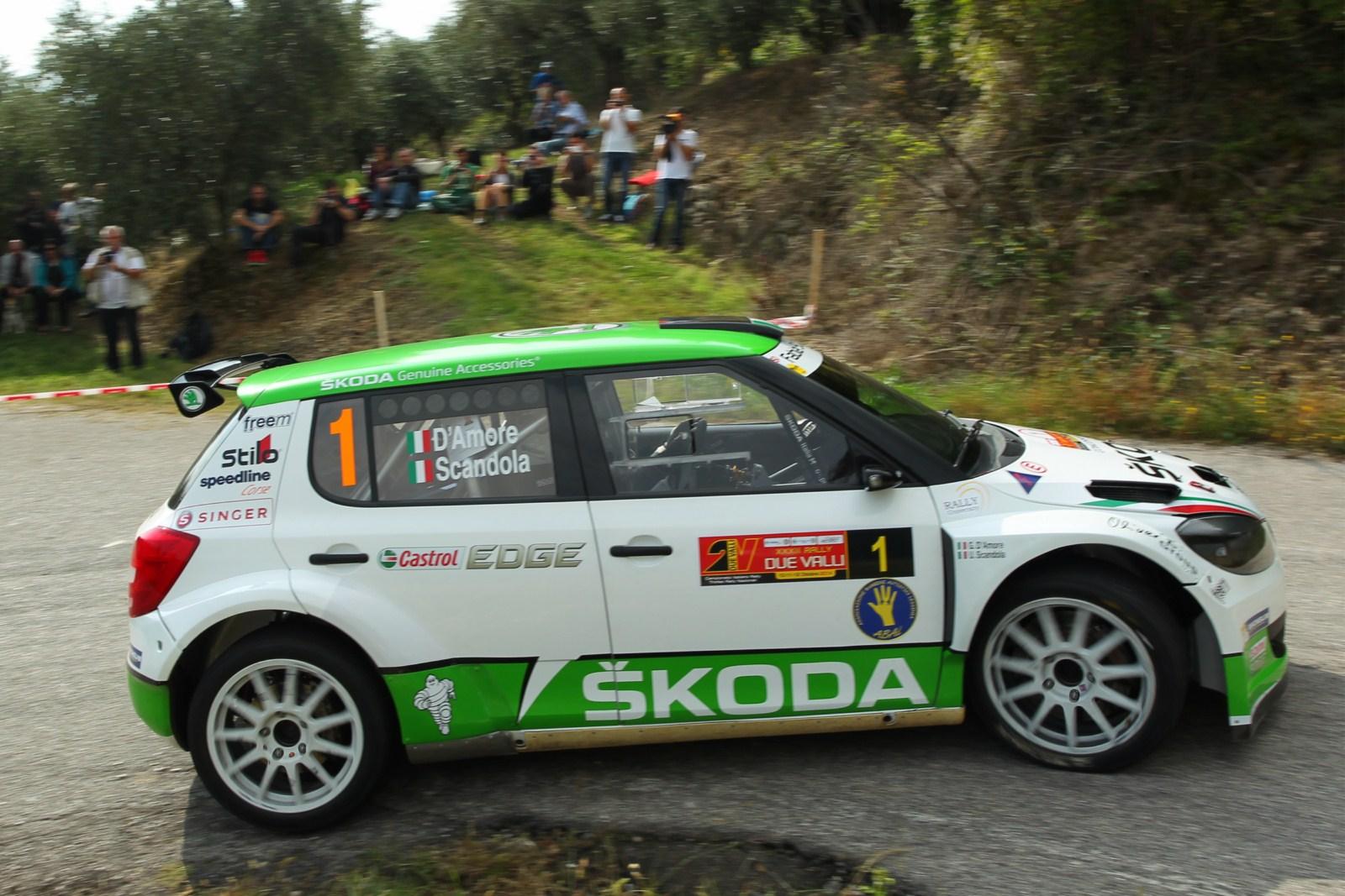 Rally Due Valli: ŠKODA Italia Motorsport 3° nella prima tappa