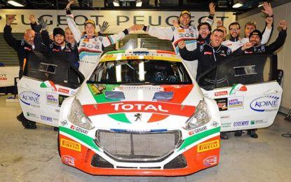 MonzaRallyShow: la 208 T16 Tricolore festeggia vincendo!