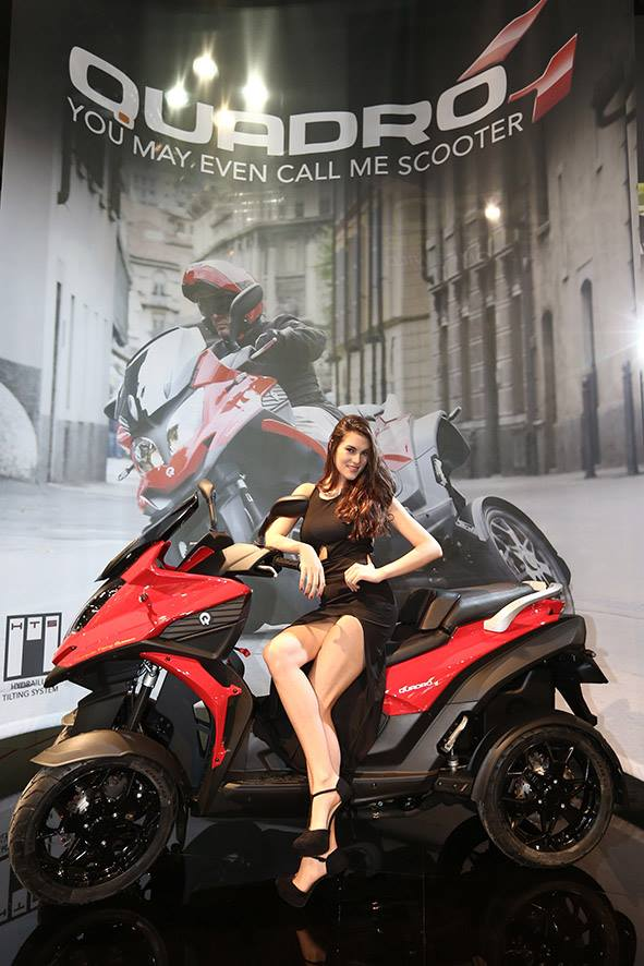 Quadro4: lo scooter a 4 ruote che piega come una moto