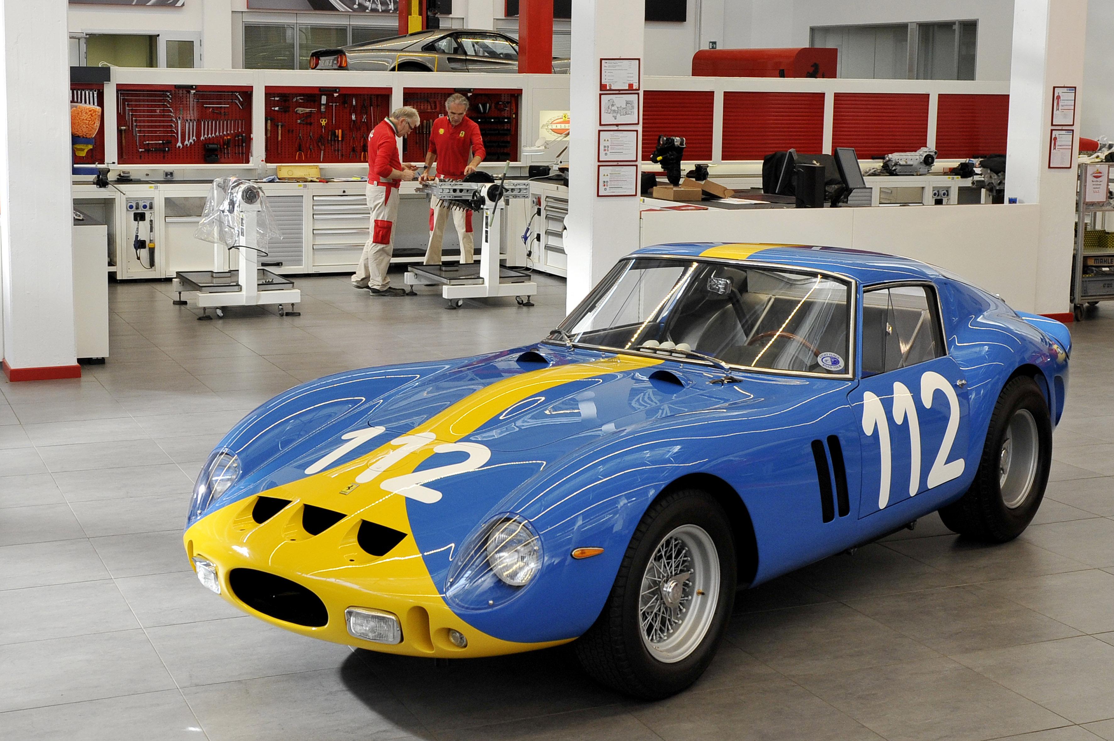 Al reparto Classiche il restauro di una splendida Ferrari 250 GTO