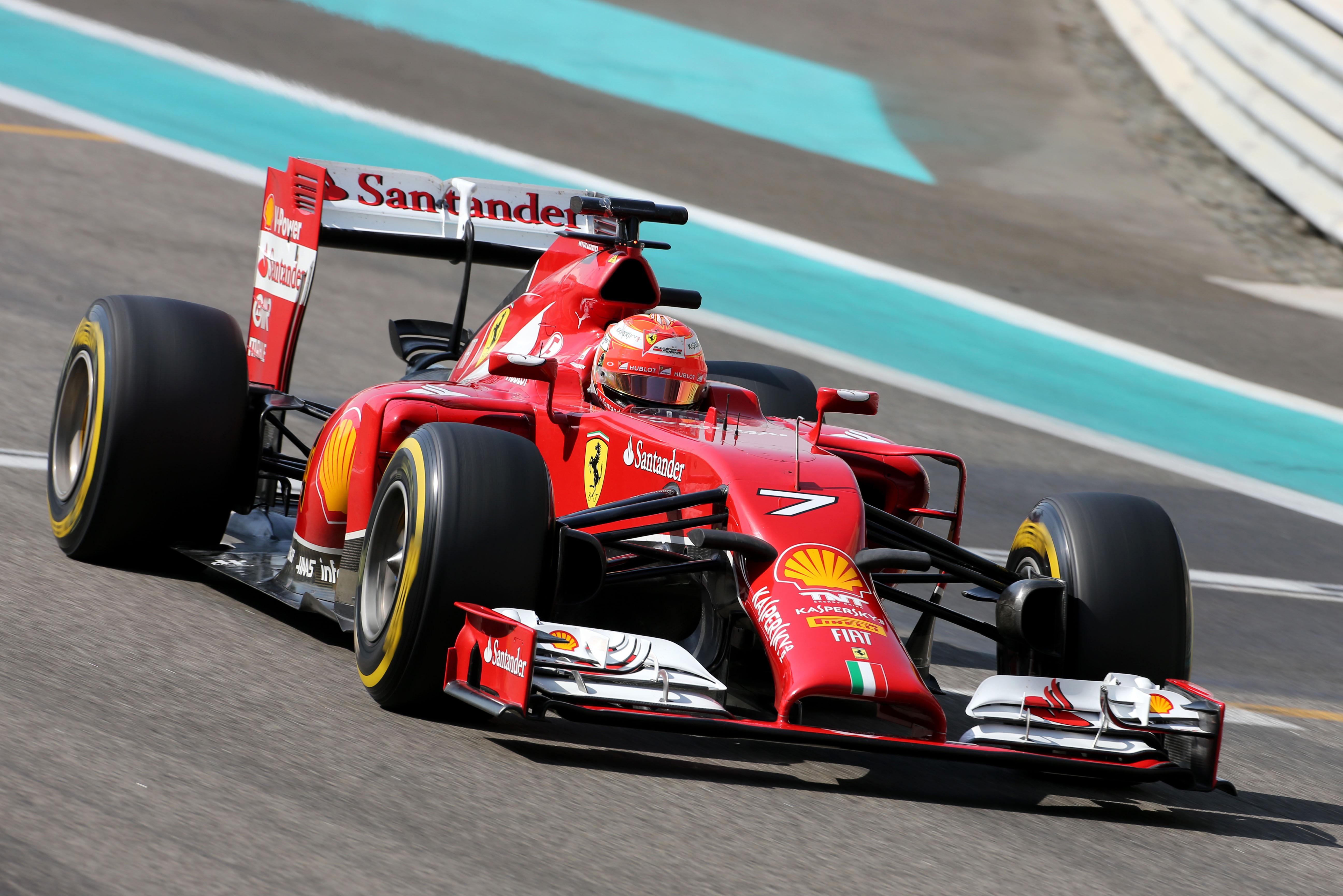 Ferrari: il test di Abu Dhabi inizia con Kimi. E Seb ai box