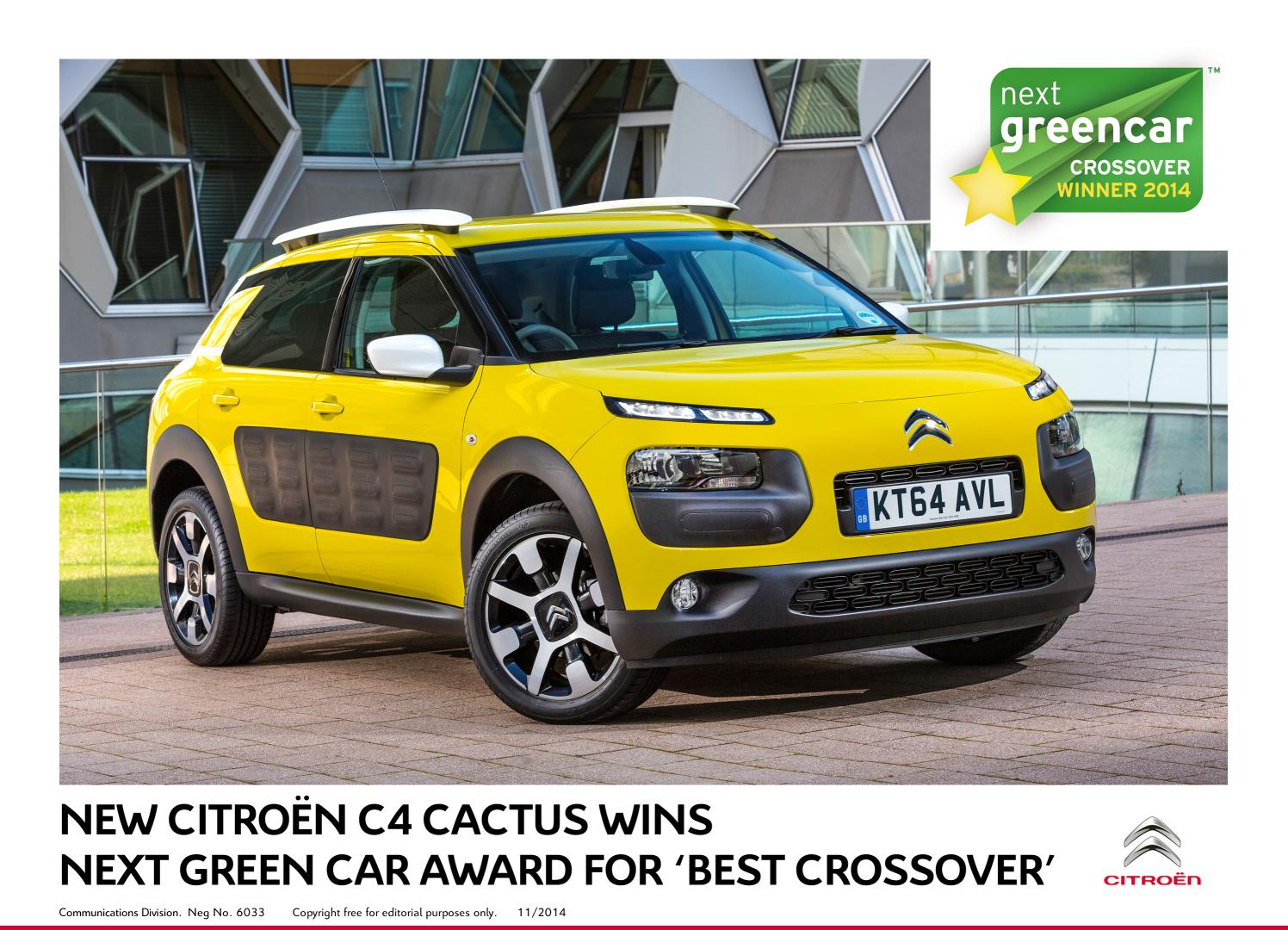 C4 Cactus miglior Crossover ai Next Green Car Awards