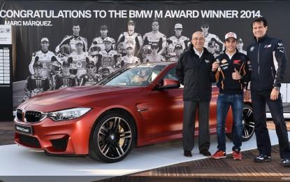 BMW M Award 2014 a Marc Marquez