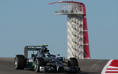 USA: Rosberg vola nelle qualifiche di Austin