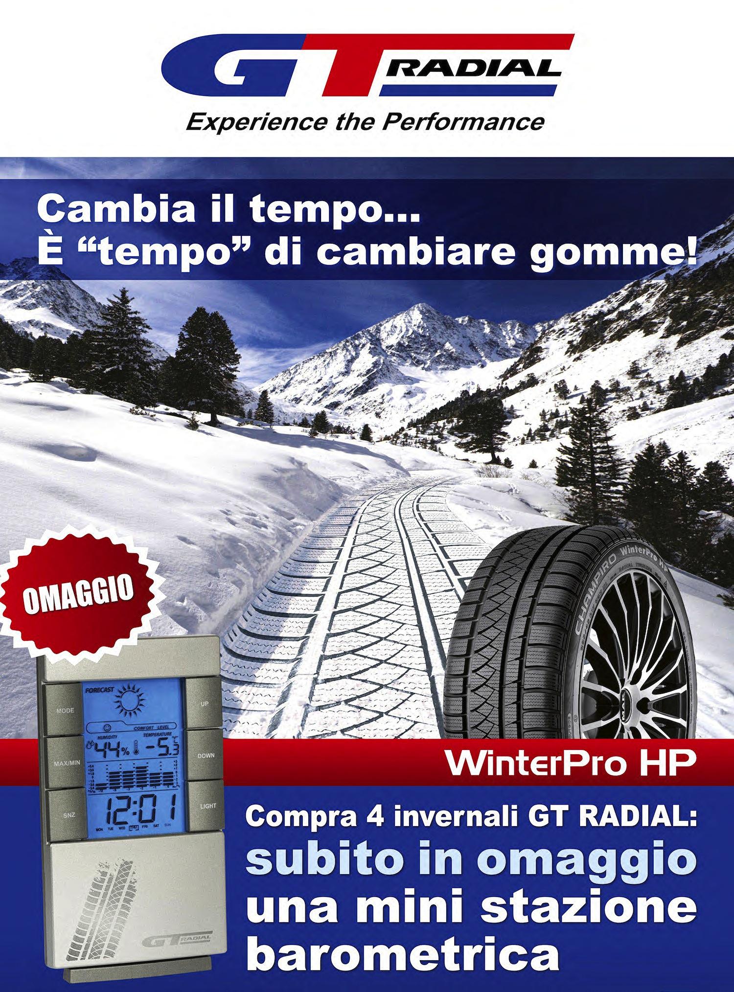 GT RADIAL: nuova promozione invernale