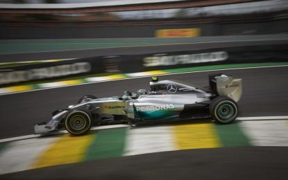 Brasile: Rosberg anche nelle seconde libere, Kimi 3°