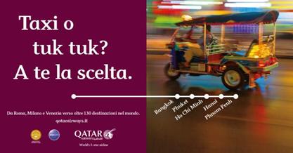 Qatar Airways: campagna itinerante verso 130 destinazioni