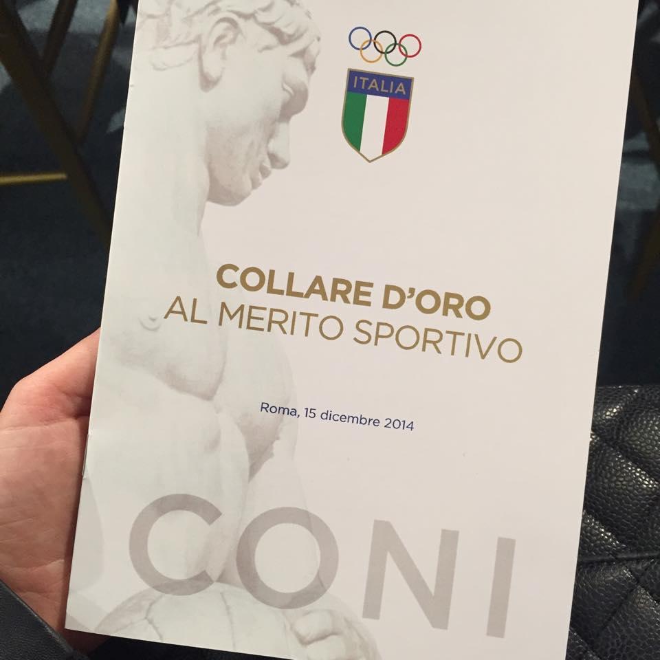 Giacomo Agostini, Antonio Cairoli e Kiara Fontanesi premiati dal CONI