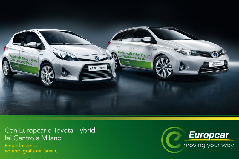 #EuropcarAmaMilano con Toyota Hybrid