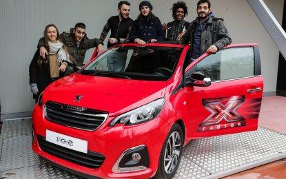 Peugeot 108 X Factor autografata per Fondazione ANT