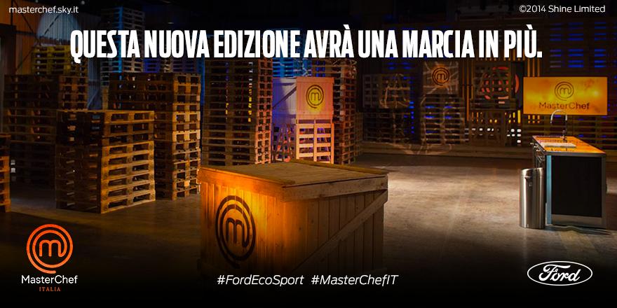 MasterChef Italia viaggia con nuova Ford EcoSport