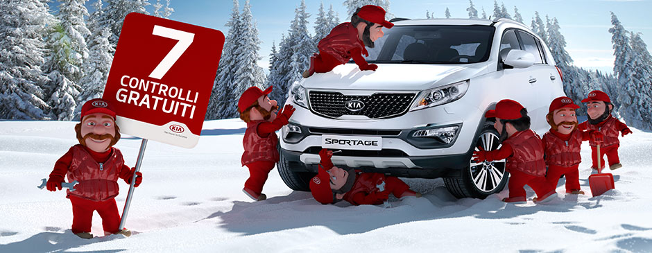My Kia Winter: sette nanetti per la sicurezza