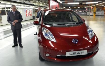 Visita reale per la fabbrica Nissan