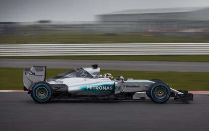 F1 W06 Hybrid: primi giri a Silverstone