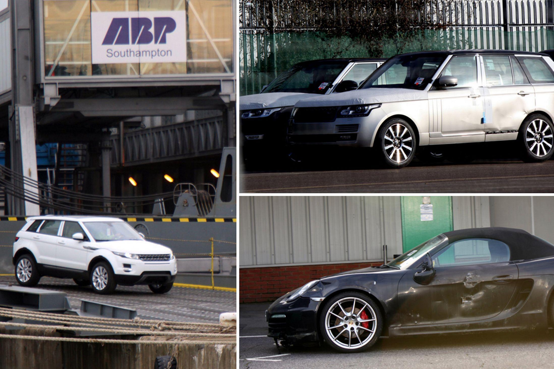 Land Rover e Jaguar recuperate dal cargo arenato