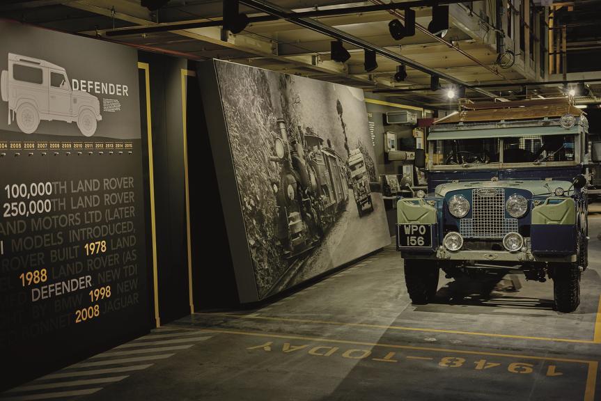 Land Rover ricrea l'originale catena di montaggio Defender