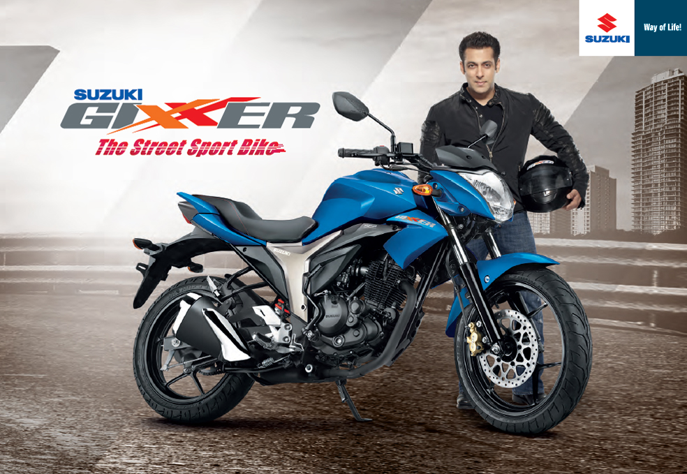 "Suzuki GIXXER ""Bike of the Year 2015"" in India"
