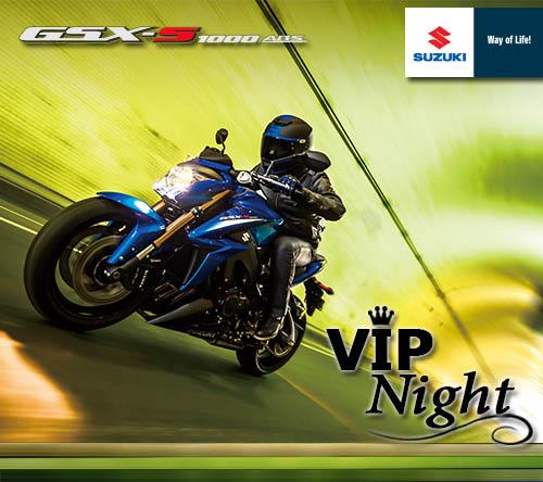 Suzuki Vip Night con GSX-S1000 ABS e GSX-S1000F ABS