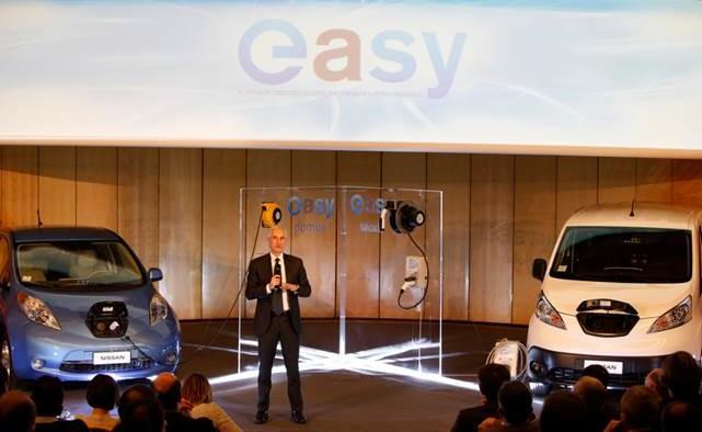 """Con Nissan mobilità elettrica """"easy"""""""